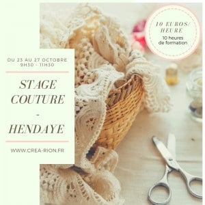 rion stage couture pays basque